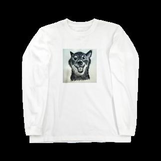 とろとろのおなかのご機嫌な犬 Long sleeve T-shirts