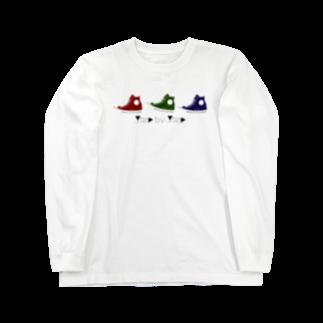 petit-0813の3色のスニーカー。 Long sleeve T-shirts