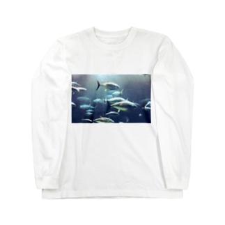 マグロと泳ぐ Long sleeve T-shirts