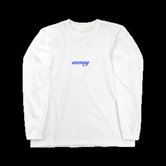 はるちゃんのニコニコ商店のaway(blue) Long sleeve T-shirts