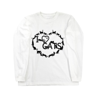 I ♡ CATS Long sleeve T-shirts