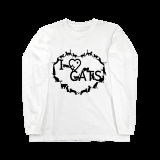乃舞のI ♡ CATS Long sleeve T-shirts