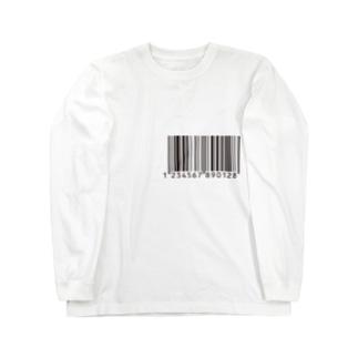 バーコード Long sleeve T-shirts
