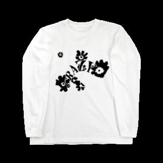 qethapethapのCRAZY FLOWER Long sleeve T-shirts