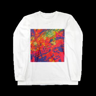 ぬっのタイの屋台🇹🇭(カラフル) Long sleeve T-shirts