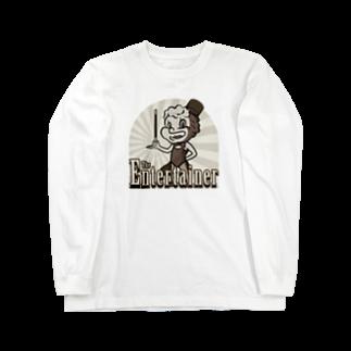 Gbのジ・エンターテイナー イラスト レトロ キャラクター Long sleeve T-shirts