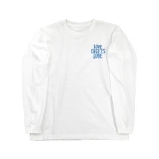 Origin heart Tee -mizuiro- Long sleeve T-shirts