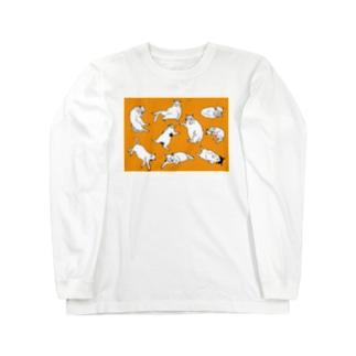 にゃんだふるライフ Long sleeve T-shirts