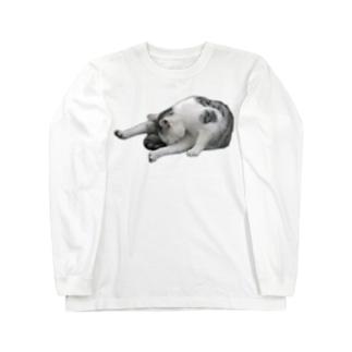エクササイズにゃんこ Long sleeve T-shirts