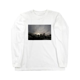日暮れと秋桜 Long sleeve T-shirts