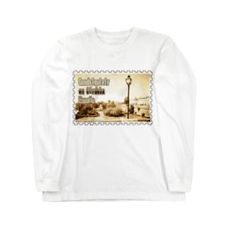 スペイン:コルドバのグアダルキビール川★白地の製品だけご利用ください!! Spain: Guadalquivir at Córdoba★Recommend for white base products only !! Long sleeve T-shirts