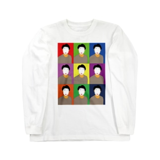 shoen-Pastel Long sleeve T-shirts