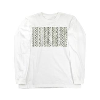 手編みニット Long sleeve T-shirts