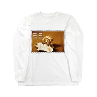 日本の昆虫:蝉退★白地の製品だけご利用ください!! Japanese insects: Cicada's shell★Recommend for white base products only !! Long sleeve T-shirts