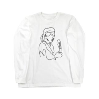 ジミヘン イラスト Long sleeve T-shirts