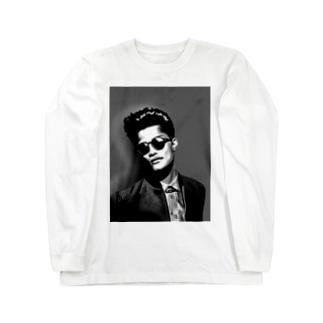 fashionable men モノクロ Long sleeve T-shirts