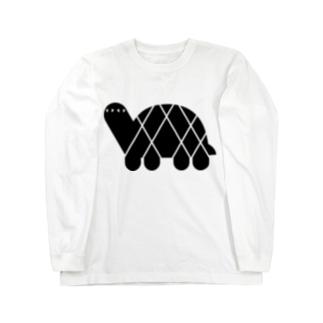 ANIMALシリーズ かめ Long sleeve T-shirts
