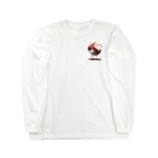 白猫姫(ワンポイントver.) Long sleeve T-shirts