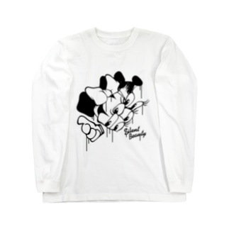 SILENT BEAUTY (β) Crazy Minnie Long sleeve T-shirts