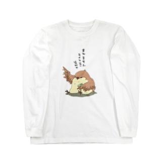ふっくらすずめ Long sleeve T-shirts