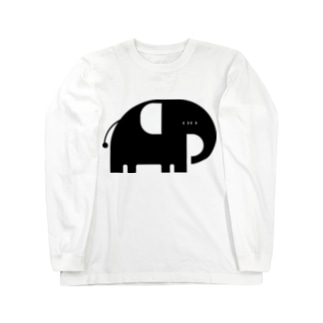 ANIMALシリーズ ぞう Long sleeve T-shirts