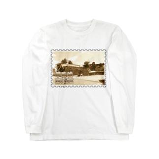 日本の城:甲府城(舞鶴城)★白地の製品だけご利用ください!! Japanese castle: Kofu castle ( Maizuru castle)★Recommend for white base products only !! Long sleeve T-shirts