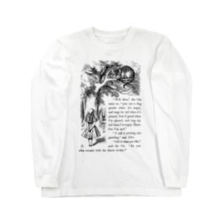 アリスとチェシャ猫 Long sleeve T-shirts