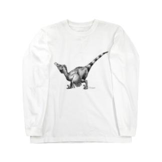 ヴェロキラプトル(モノクロ) Long sleeve T-shirts