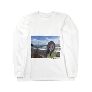 Beach Girl Photo Long sleeve T-shirts