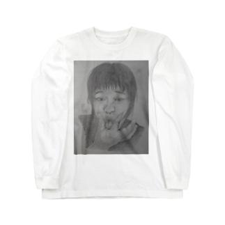 天神変顔  ひよこ Long sleeve T-shirts