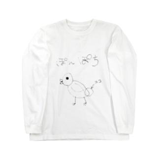 ぽんぽち Long sleeve T-shirts
