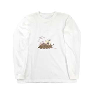 うさぴよの団らん Long sleeve T-shirts