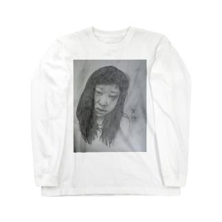 天神髪ボサ Long sleeve T-shirts