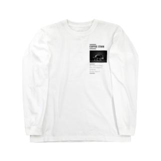 腹ペコ猪腹宇宙。カッコつけ白 Long sleeve T-shirts