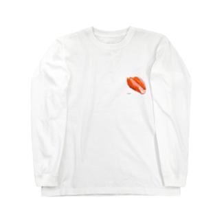 サーモン Long sleeve T-shirts