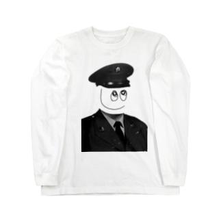 スマイルポリス君 Long sleeve T-shirts