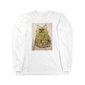 ボタニカル猫 Long Sleeve T-Shirt