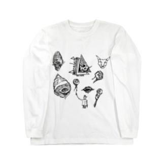 ワクワク詰め合わせセット(しろ) Long sleeve T-shirts