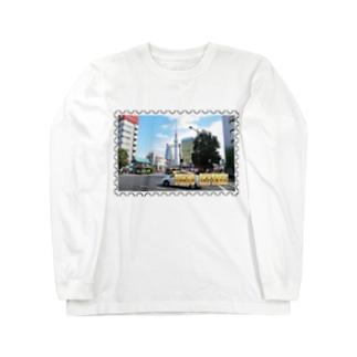 東京都:東京スカイツリー★白地の製品だけご利用ください!! Tokyo: Tokyo Skytree from Asakusa★Recommend for white base products only !! Long sleeve T-shirts