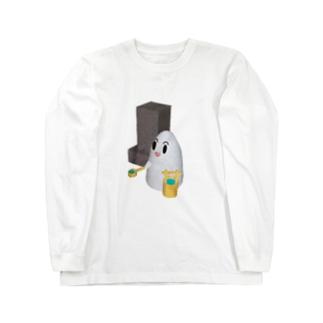 おばけのおはかまいり Long sleeve T-shirts