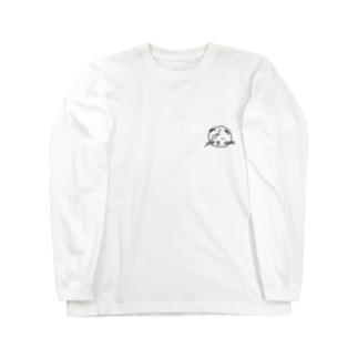 眠い顔のにゃーちゃん Long sleeve T-shirts