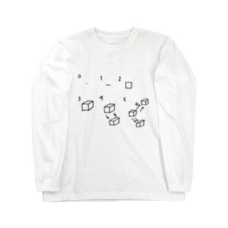 次元についての考察 Long sleeve T-shirts