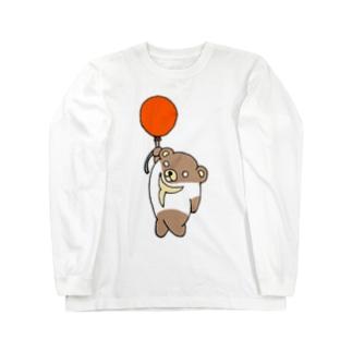 Tシャツくま  風船バージョン Long sleeve T-shirts