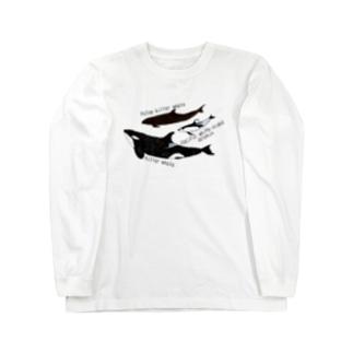 大人気スターのイルカたち Long sleeve T-shirts