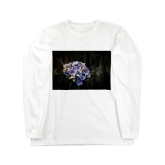 【花途夢】紫陽花(紫) Long sleeve T-shirts
