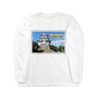 日本の城:忍城★白地の製品だけご利用ください!! Japanese castle: Oshi Castle/ Gyoda★Recommend for white base products only !! Long sleeve T-shirts