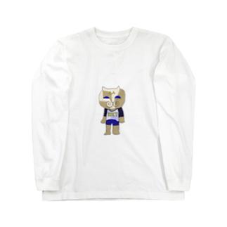 ぶち猫ロンリー Long sleeve T-shirts