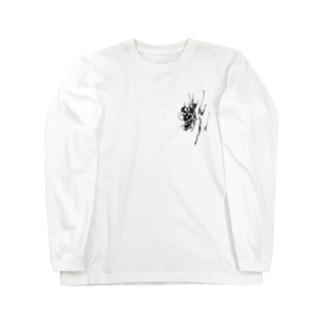 『さる沢』ロゴ Long sleeve T-shirts