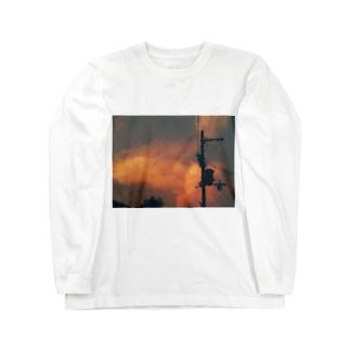 増税、怒りの空 Long sleeve T-shirts