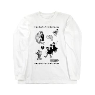 羽のある痕跡 Long sleeve T-shirts